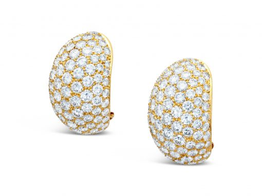 Pavé Gold and Diamond Earrings