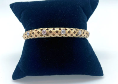 Yellow Gold and Diamond Victorian Bangle