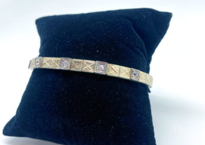 Yellow Gold and Diamond Art Deco Bracelet